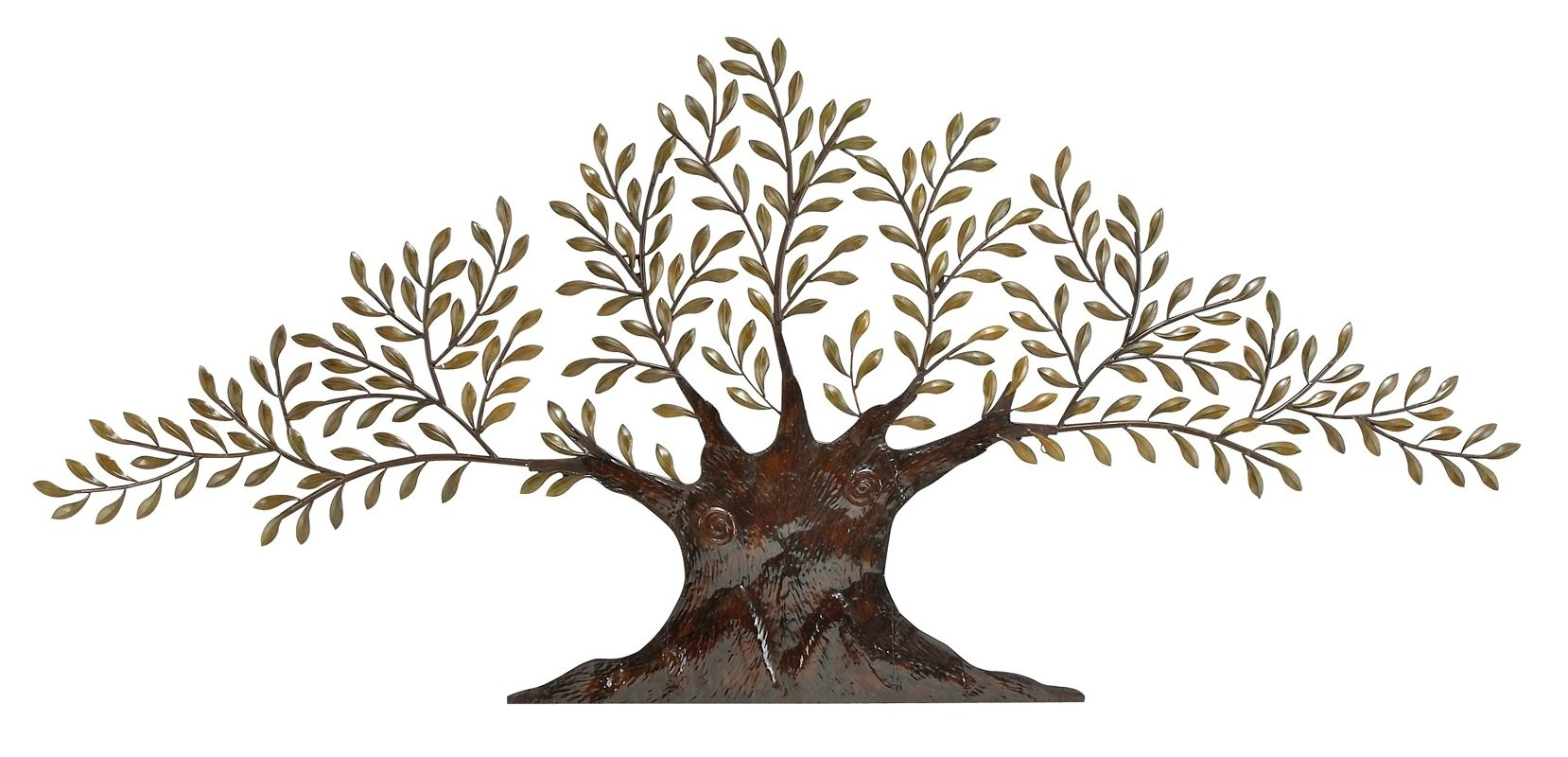 Aspire Home Accents 68501 Large Metal Olive Tree Wall Decor Brown /