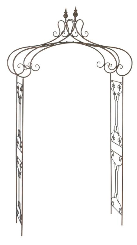 Aspire Home Accents 68701 Decorative Metal Garden Arch Antique Brown Sale $128.50 ITEM: bci2663429 ID#:68701 UPC: 758647687015 :