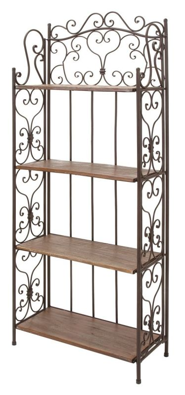 Aspire Home Accents 69872 Josette Bakers Rack Brown Home Decor Bakers