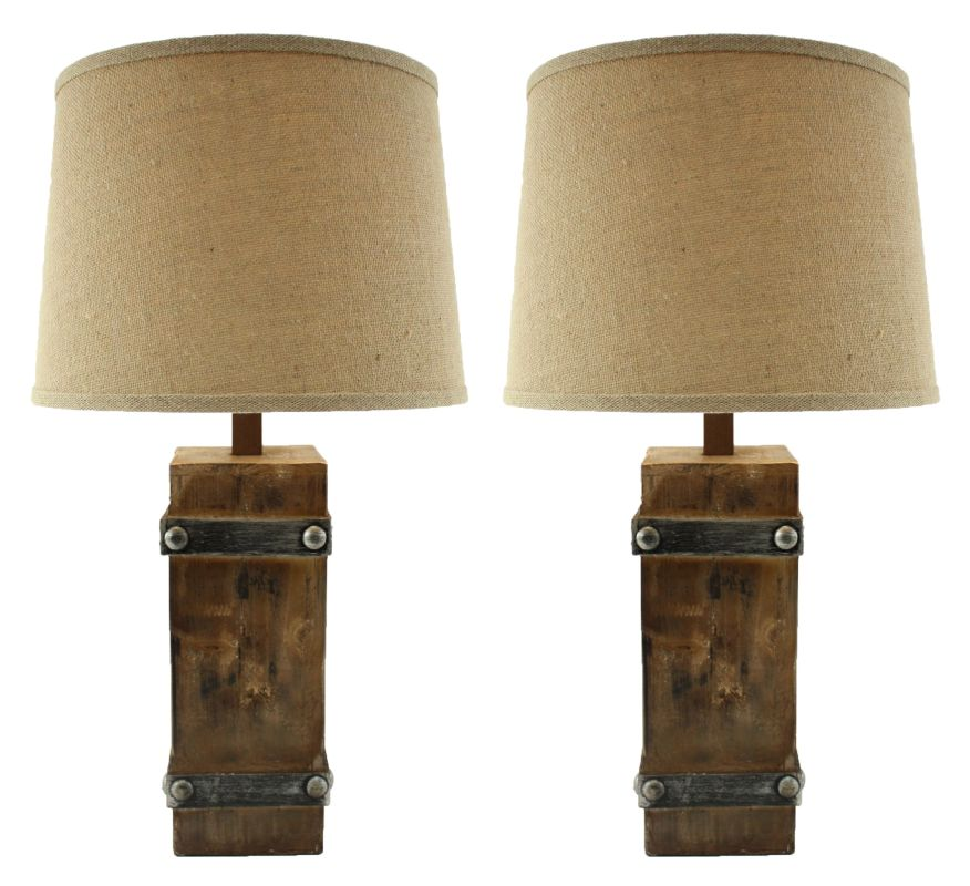 Aspire Home Accents 8580 Brockton II Table Lamp (Set of 2) Brown Lamps