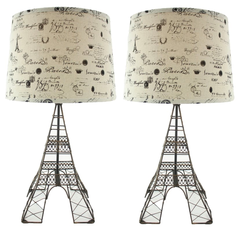 Aspire Home Accents 8623 Eiffel Tower Table Lamp (Set of 2) Brown
