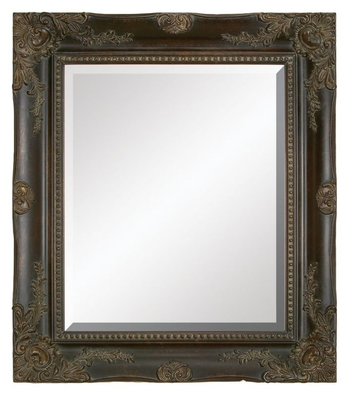 "Aspire Home Accents 88492 36"" Rectangular Wall Mirror Antique Brown"