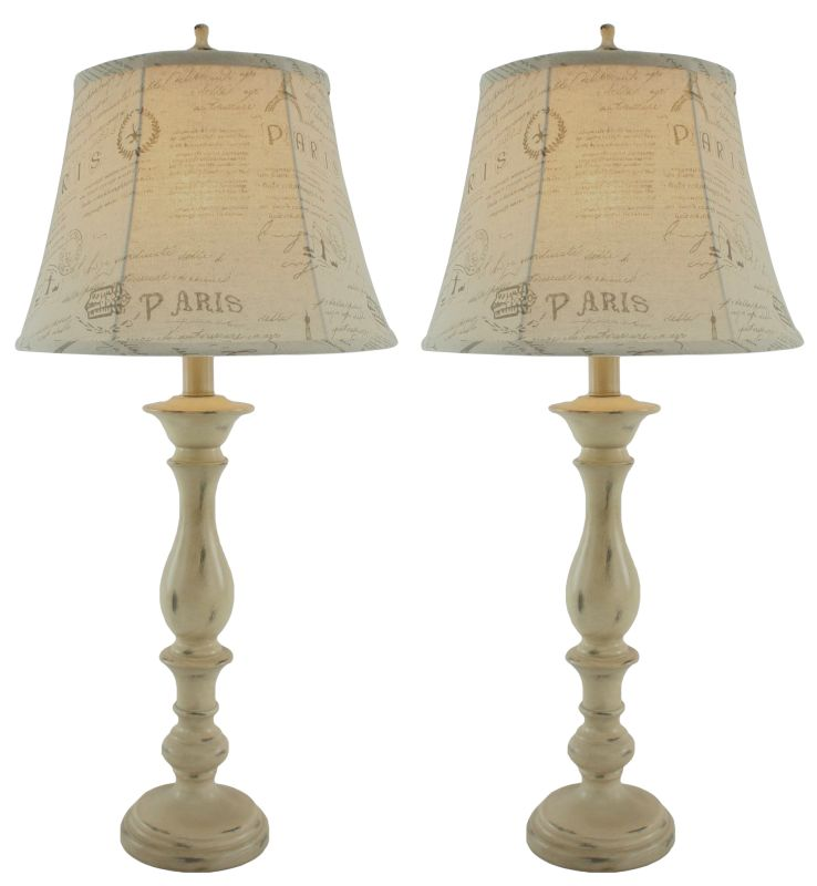 Aspire Home Accents 9588 Lori Table Lamp (Set of 2) Cream Lamps Table