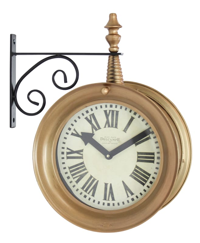 Aspire Home Accents 4066 17 Inch x 15 Inch Framed Metal Clock from the