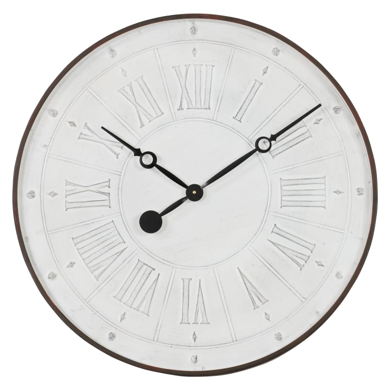 Aspire Home Accents 4110 27 Inch Diameter Framed Metal Clock from the