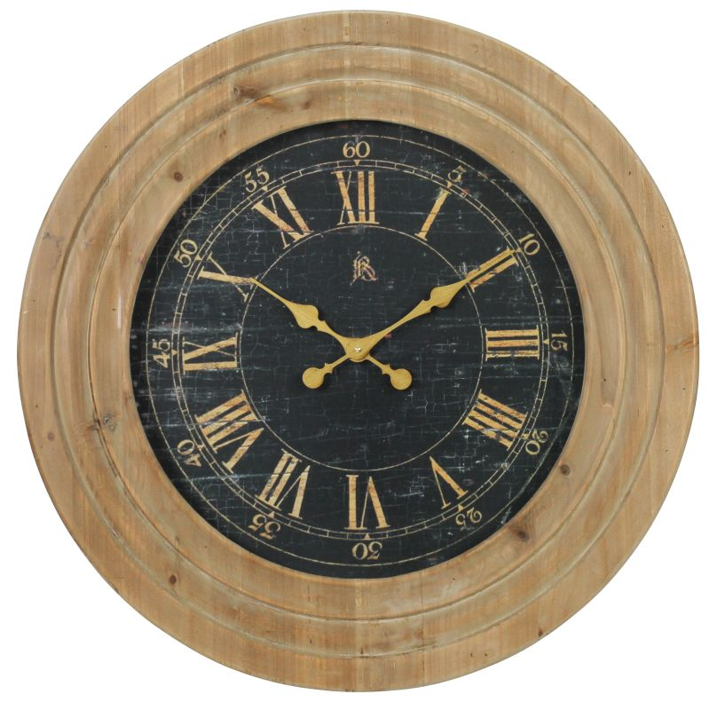 Aspire Home Accents 4172 30 Inch Diameter Framed Wood Clock from the