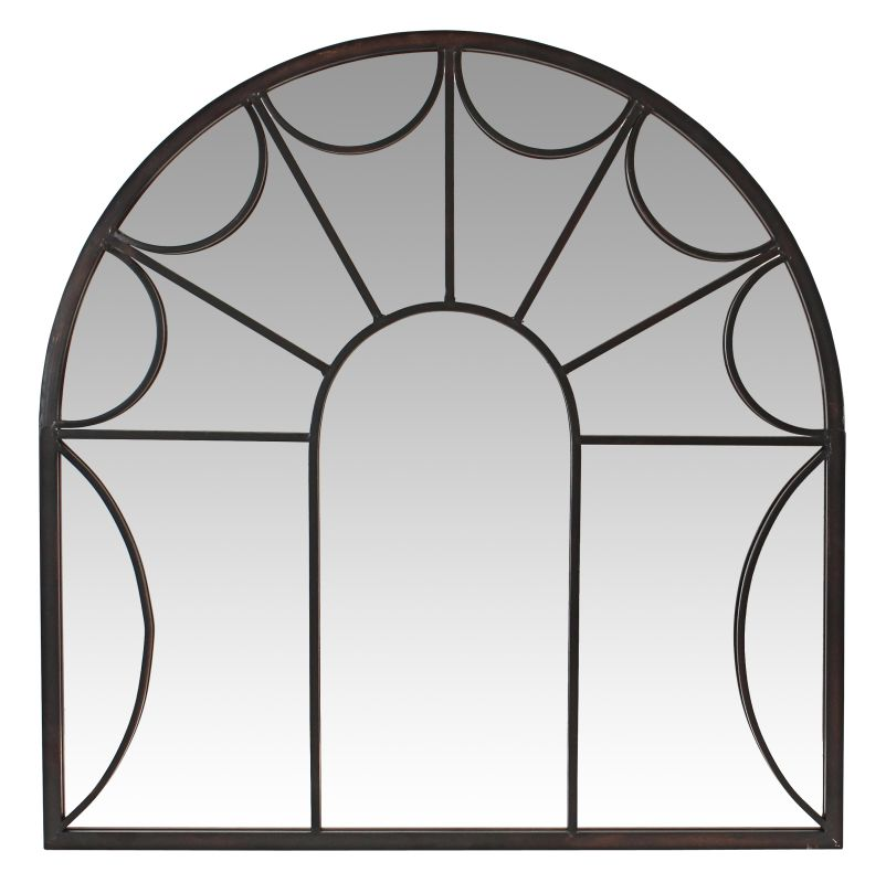 Aspire Home Accents 5958 Carlita Arched Window Wall Mirror Brown Home