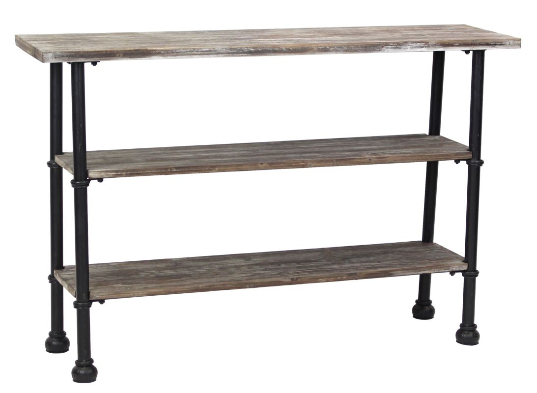 Aspire Home Accents 6743 Palmer 3-Shelf Console Table Grey Furniture