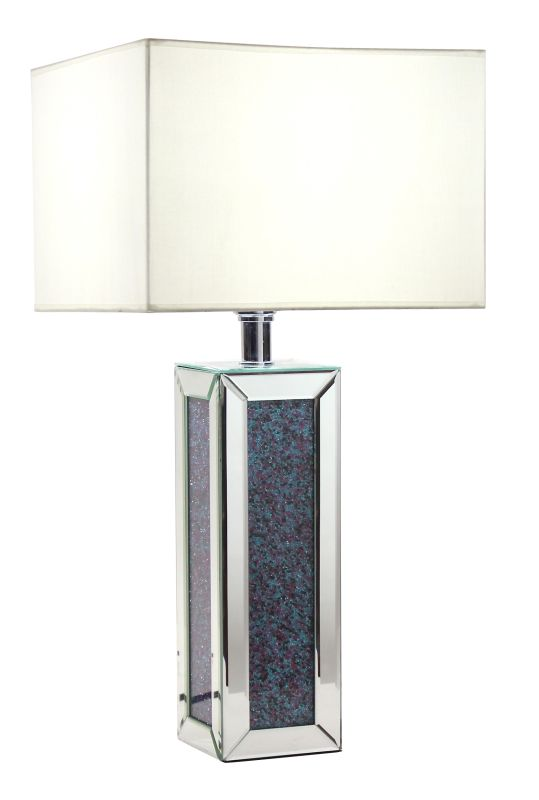 Aspire Home Accents 8488 Callie Mirrored Table Lamp Clear Lamps