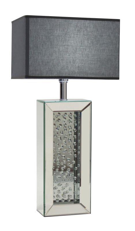 Aspire Home Accents 8795 Carroll Mirrored Table Lamp Clear Lamps