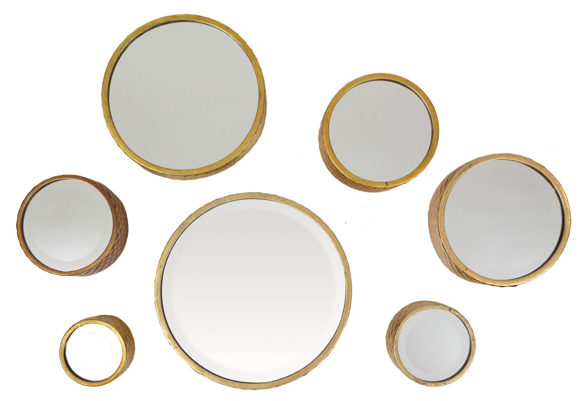 Aspire Home Accents 9167 Margate Gold Accent Mirrors (Set of 7) Gold