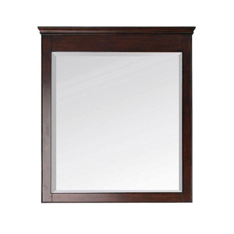 "Avanity WINDSOR-M34 34"" Rectangular Beveled Mirror Walnut Home Decor"