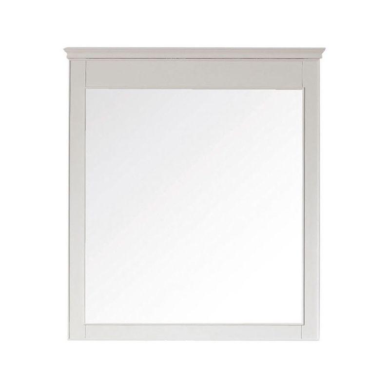 "Avanity WINDSOR-M30-WT 30"" Wall Hanging Vanity Mirror White Home Decor"