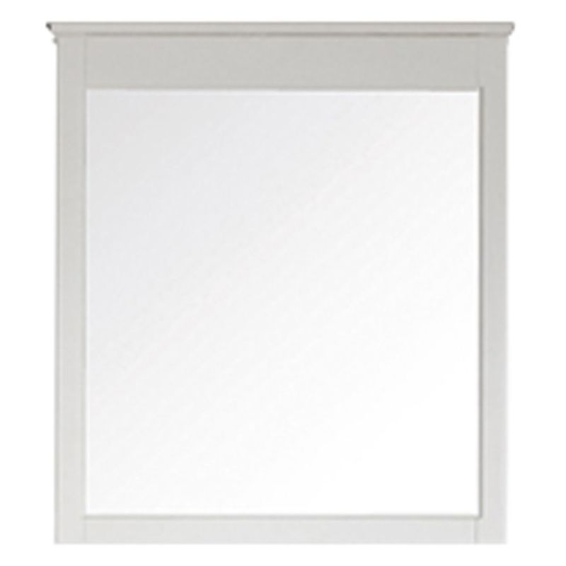 """Avanity WINDSOR-M34 34"""" Rectangular Beveled Mirror White Home Decor"""