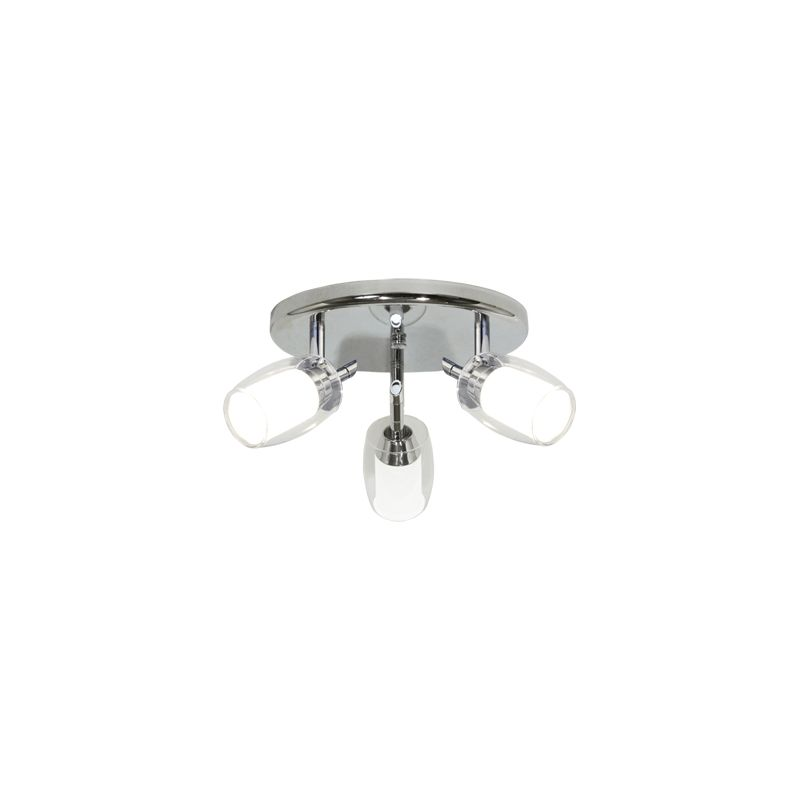 Bazz Lighting PX7153CH Accent Series Three-Light Semi Flush Ceiling