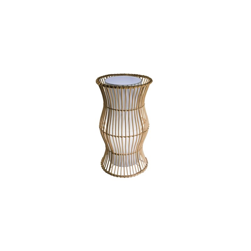 Bazz Lighting T8063 Vibe Series Single-Light Table Lamp White and