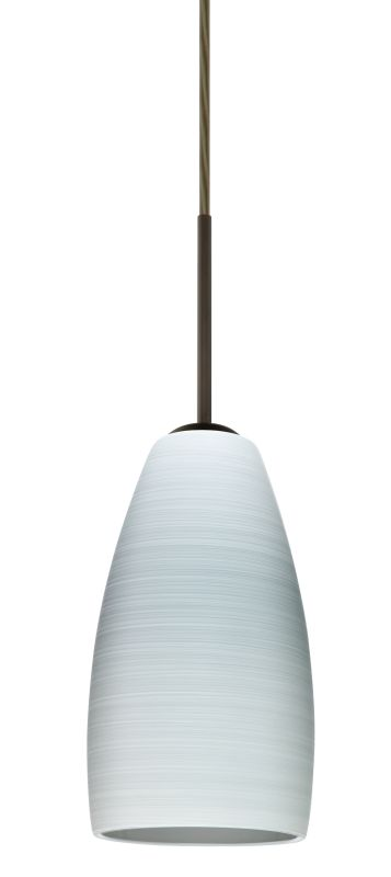Besa Lighting 1BT-1509KR Chrissy 1 Light Cord-Hung Mini Pendant with
