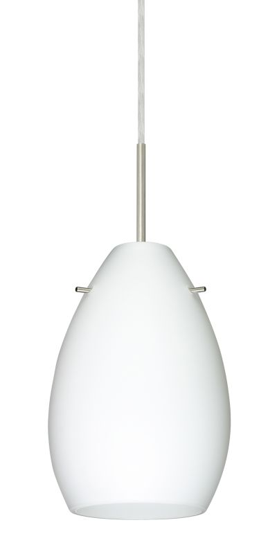 Besa Lighting 1BT-171307 Pera 1 Light Cord-Hung Mini Pendant with Opal