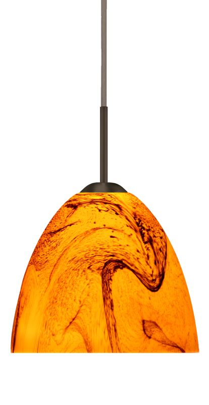 Besa Lighting 1BT-7572HB-LED Sasha II 1 Light LED Cord-Hung Mini