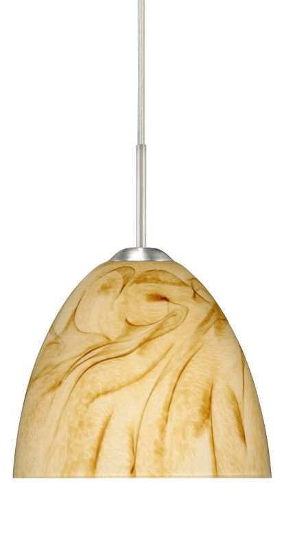 Besa Lighting 1BT-7572HV Sasha II 1 Light Cord-Hung Mini Pendant with