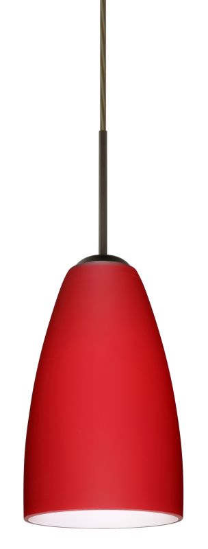 Besa Lighting 1JT-1511RM Riva 1 Light Cord-Hung Mini Pendant with Ruby Sale $216.00 ITEM: bci2390181 ID#:1JT-1511RM-BR UPC: 767893689124 :