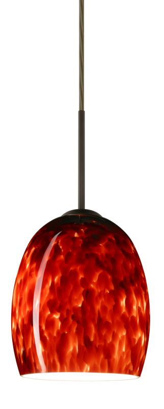 Besa Lighting 1JT-169741 Lucia 1 Light Cord-Hung Mini Pendant with Sale $189.00 ITEM: bci779670 ID#:1JT-169741-BR UPC: 767893583897 :
