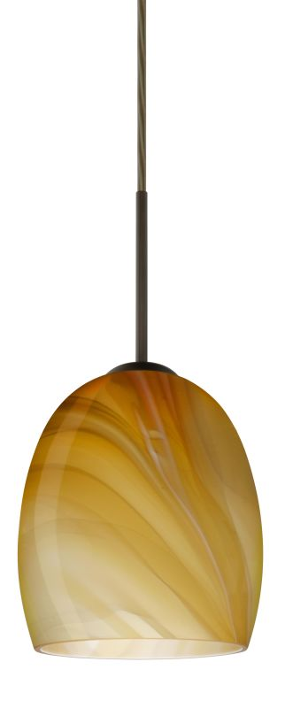 Besa Lighting 1JT-1697HN-LED Lucia 1 Light LED Cord-Hung Mini Pendant