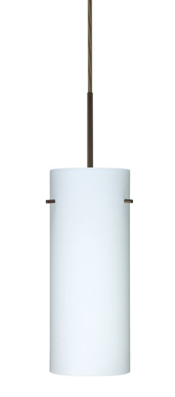 Besa Lighting 1JT-412307 Stilo 1 Light Cord-Hung Pendant with Opal