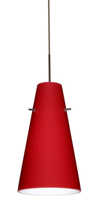 Besa Lighting 1JT-4124RM Cierro 1 Light Cord-Hung Mini Pendant with Sale $189.00 ITEM: bci780007 ID#:1JT-4124RM-BR UPC: 767893584450 :