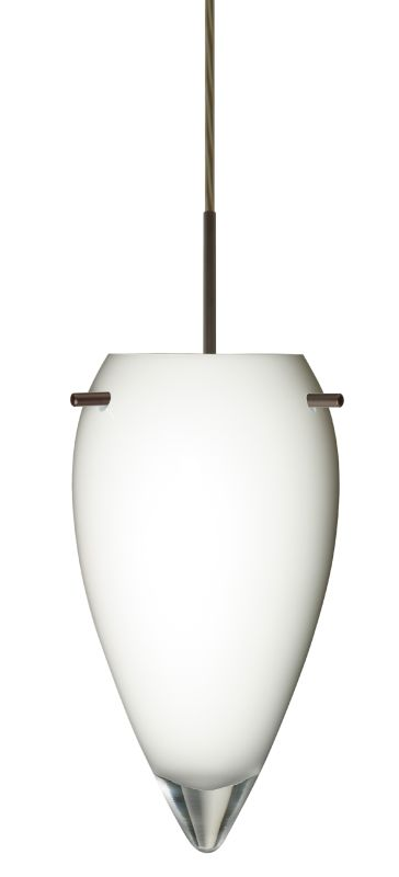 Besa Lighting 1JT-412506 Juli 1 Light Cord-Hung Pendant with Opal