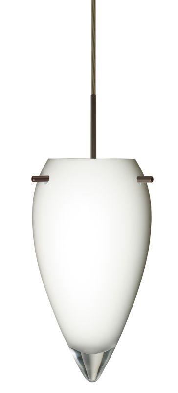 Besa Lighting 1JT-412506 Juli 1 Light Cord-Hung Pendant with Opal