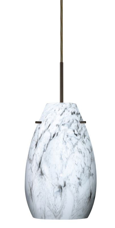 Besa Lighting 1JT-4126MG-LED Pera 1 Light LED Cord-Hung Mini Pendant
