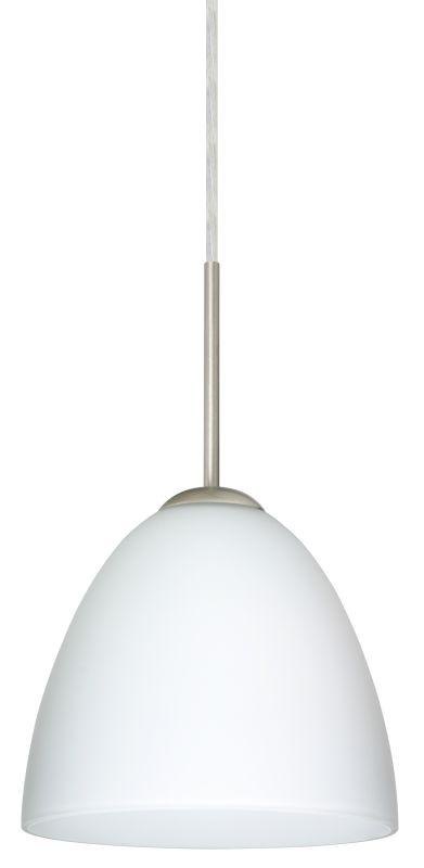 Besa Lighting 1JT-447007 Vila 1 Light Cord-Hung Mini Pendant with Opal