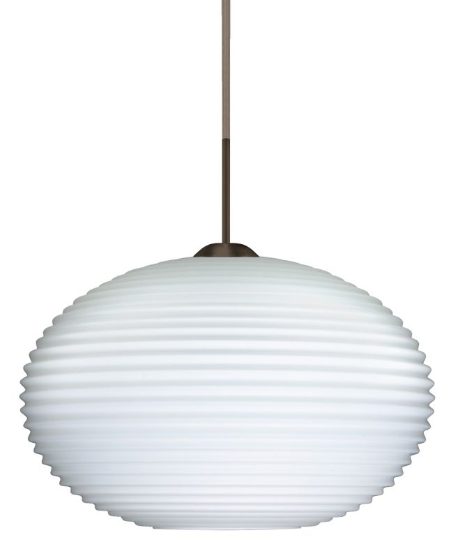 Besa Lighting 1JT-491307 Pape 1 Light Cord-Hung Pendant with Opal