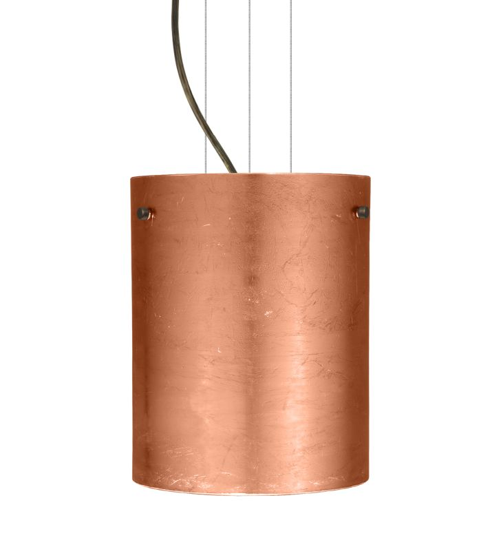 Besa Lighting 1KG-4006CF Tamburo 1 Light Cable-Hung Pendant with Sale $423.00 ITEM: bci780266 ID#:1KG-4006CF-BR UPC: 767893554231 :