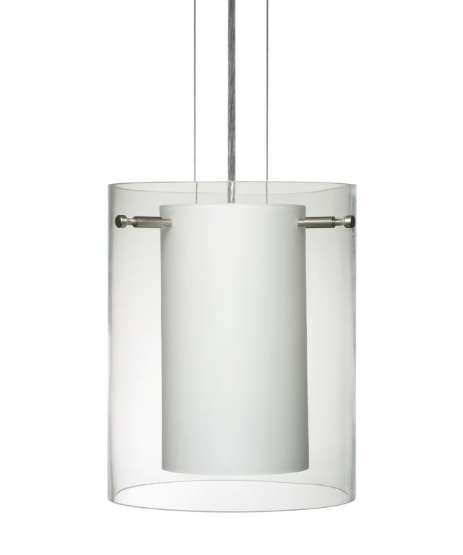 Besa Lighting 1KG-C00607 Pahu 1 Light Cable-Hung Pendant with Clear /