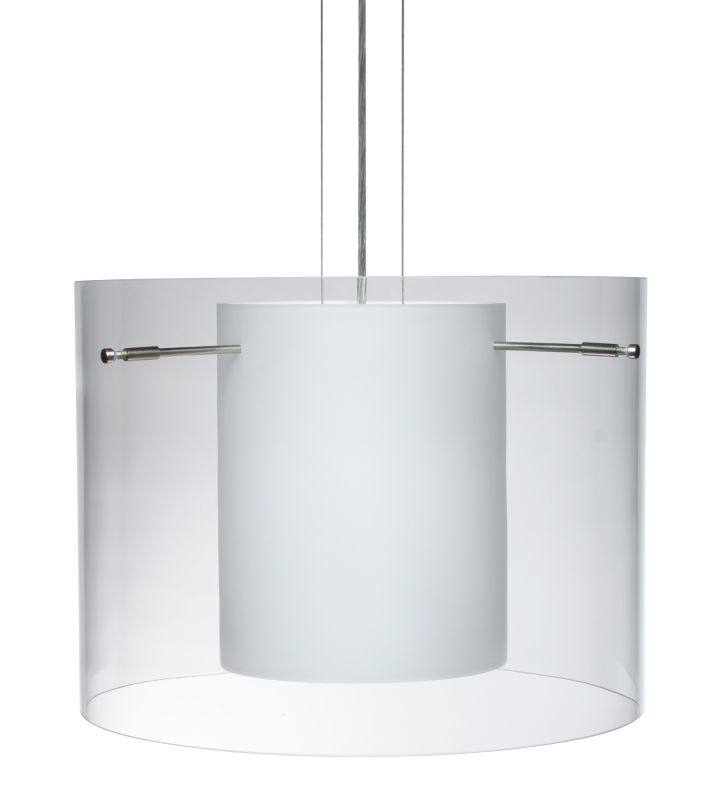 Besa Lighting 1KG-C00707 Pahu 1 Light Cable-Hung Pendant with Clear / Sale $823.50 ITEM: bci780359 ID#:1KG-C00707-SN UPC: 767893548834 :