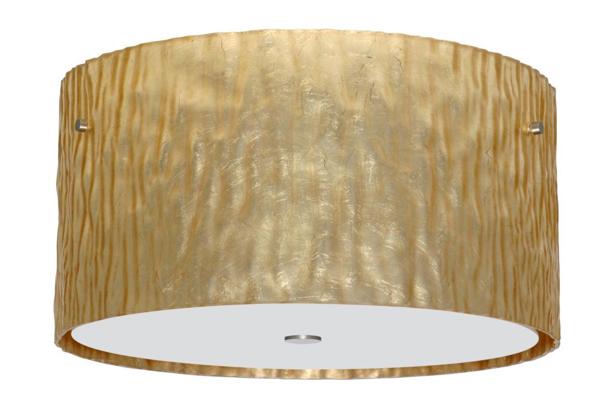 Besa Lighting 1KM-4008GS Tamburo 3 Light Flush Mount Ceiling Fixture Sale $841.50 ITEM: bci2387284 ID#:1KM-4008GS-SN UPC: 767893691639 :