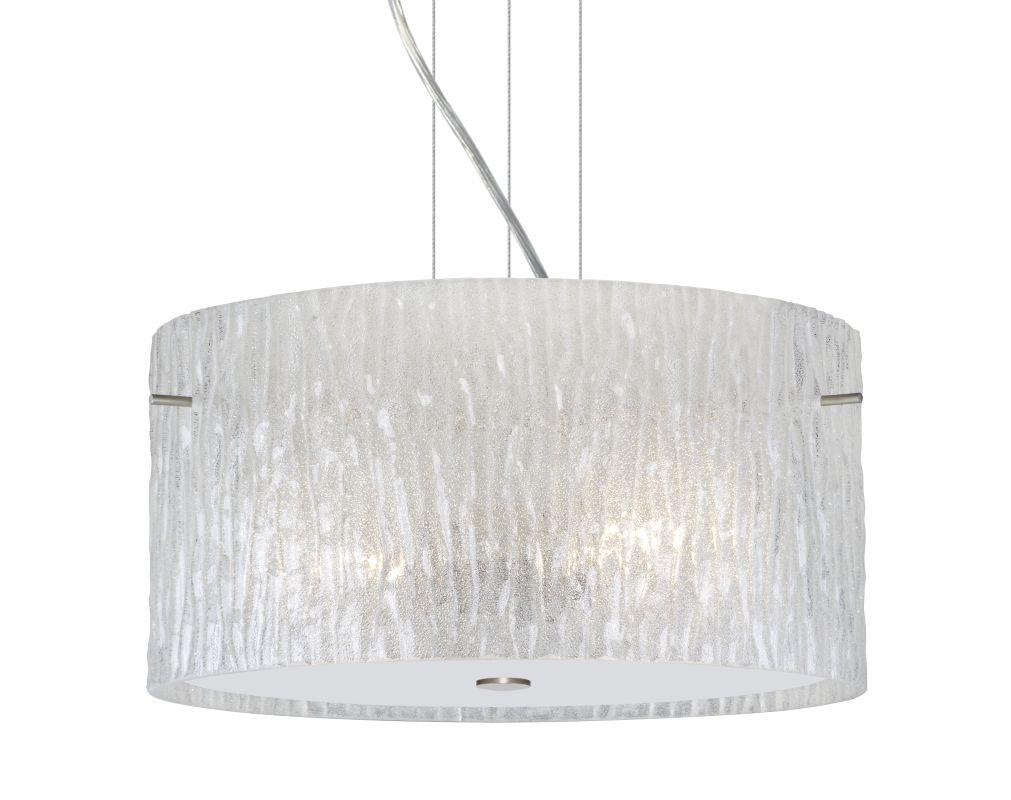 Besa Lighting 1KV-4008GL Tamburo 1 Light Pendant with Glitter Stone