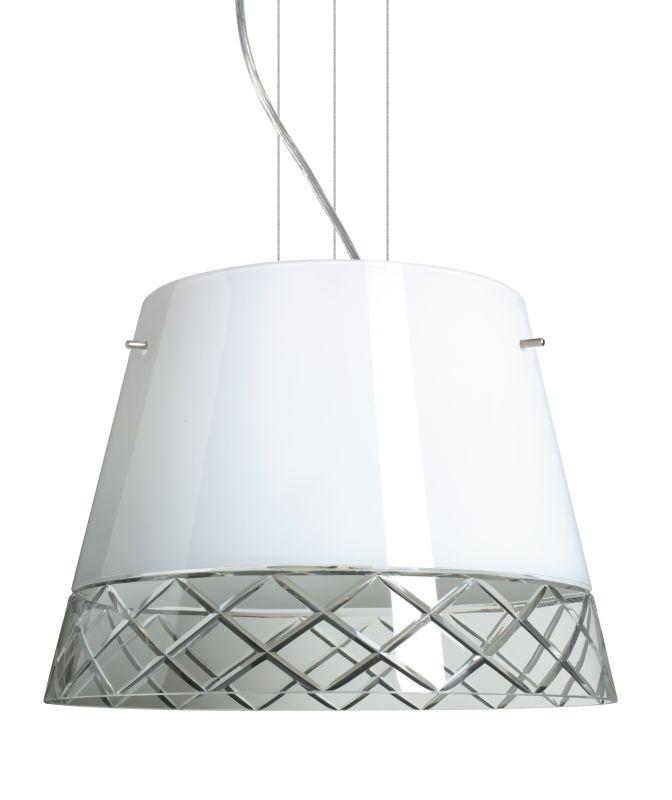 Besa Lighting 1KV-4340WC Amelia 3 Light Cable-Hung Pendant with White Sale $913.50 ITEM: bci2391074 ID#:1KV-4340WC-SN UPC: 767893693213 :