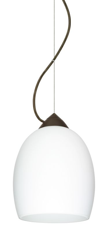 Besa Lighting 1KX-169707 Lucia 1 Light Cable-Hung Pendant with Opal