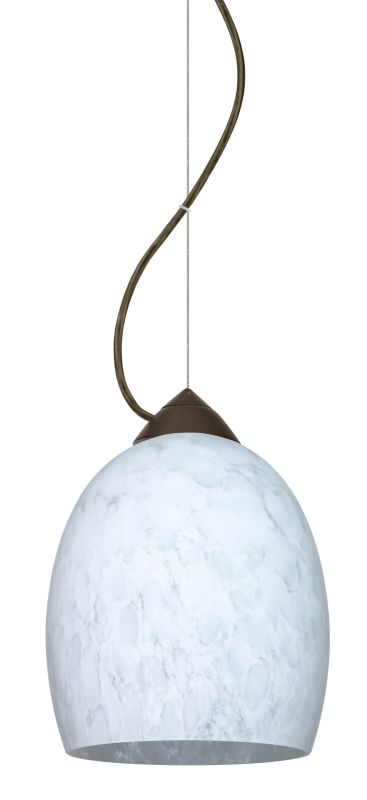 Besa Lighting 1KX-169719-LED Lucia 1 Light LED Cable-Hung Pendant with