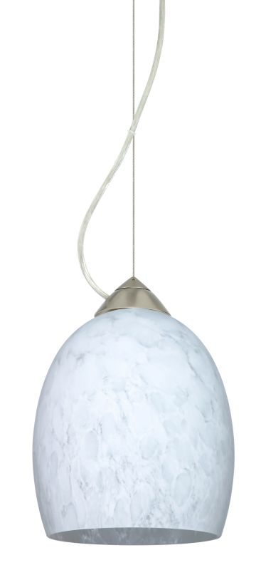 Besa Lighting 1KX-169719 Lucia 1 Light Cable-Hung Pendant with Carrera