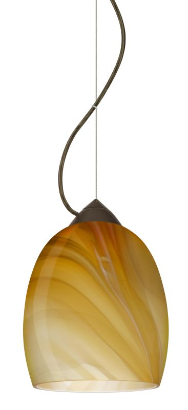 Besa Lighting 1KX-1697HN-LED Lucia 1 Light LED Cable-Hung Pendant with