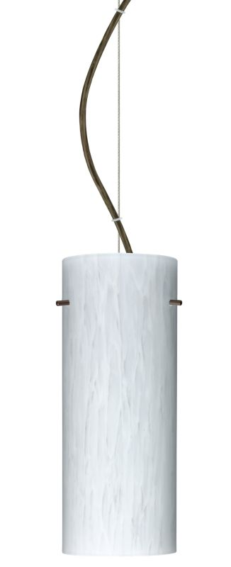 Besa Lighting 1KX-412319 Stilo 1 Light Cable-Hung Pendant with Carrera