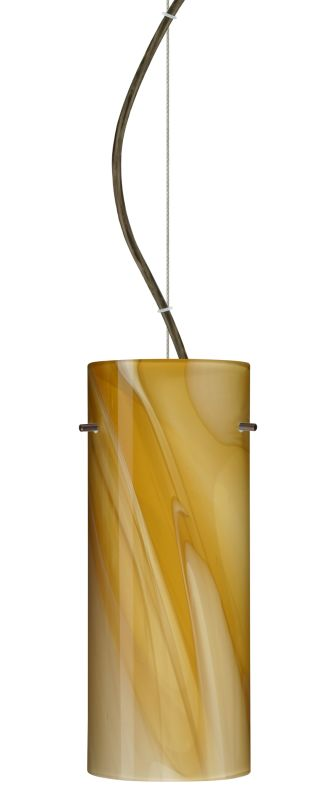 Besa Lighting 1KX-4123HN Stilo 1 Light Cable-Hung Pendant with Honey