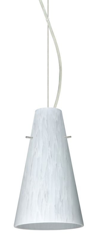 Besa Lighting 1KX-412419-LED Cierro 1 Light LED Cable-Hung Pendant