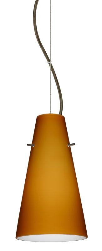 Besa Lighting 1KX-412480 Cierro 1 Light Cable-Hung Pendant with Amber Sale $265.50 ITEM: bci2391277 ID#:1KX-412480-BR UPC: 767893832407 :