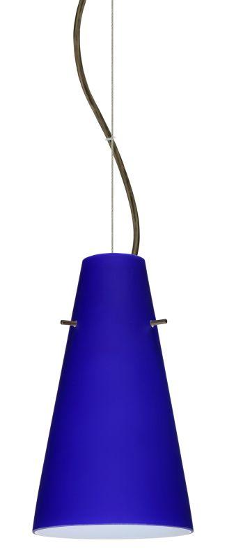 Besa Lighting 1KX-4124CM-LED Cierro 1 Light LED Cable-Hung Pendant