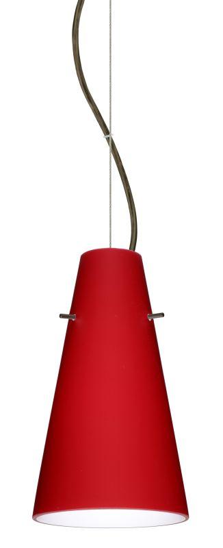 Besa Lighting 1KX-4124RM-LED Cierro 1 Light LED Cable-Hung Pendant